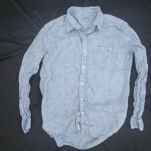 Lucky Brand 100% Linen Chambray Shirt